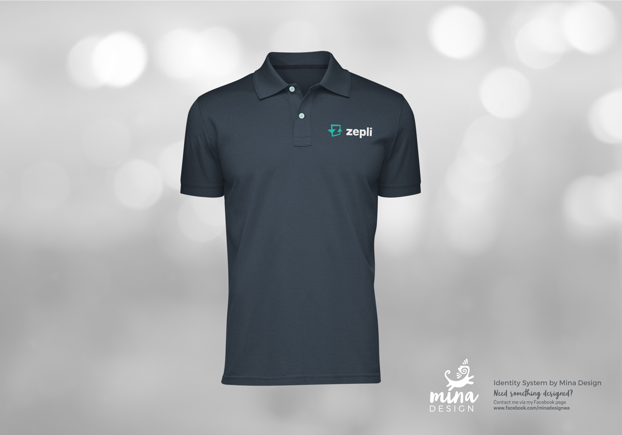 Zepli Logo Embroidery on Polo Shirt Mockup